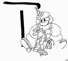 t mit clown ausmalbild malvorlage alphabet