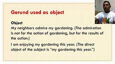 gerund phrases as subject and objects youtube