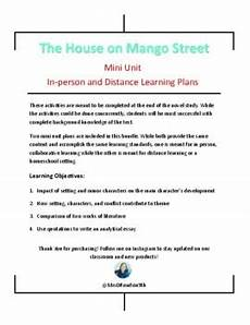 house on mango street unit plan the house on mango street mini unit in person and