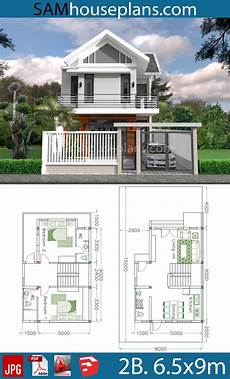 sketchup house plan sketchup home design plan 6 5x9m with 2 bedrooms with
