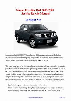 service repair manual free download 2005 nissan frontier on board diagnostic system nissan frontier d40 2005 2007 service repair manual by hong lii issuu