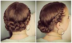 double twist bun updo homecoming hairstyles cute hairstyles