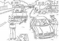 malvorlagen drei auto polizei ausmalbilder