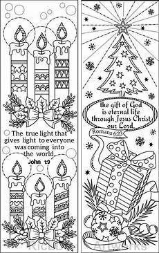 set mit 8 weihnachts lesezeichen zum ausmalen mit