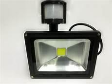 30w led cool white outdoor flood pir motion sensor