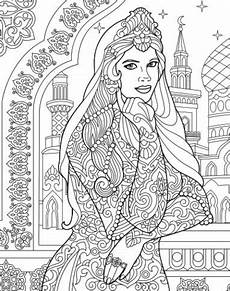 indian princess colouring page recolor app