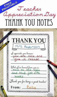 thank you card template for students from appreciation day printable thank you notes