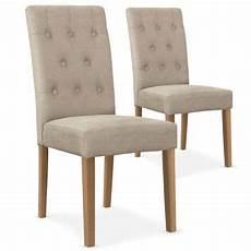 chaise chez conforama lot de 2 chaises cecil tissu beige vente de cotecosy