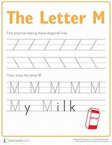 tracing worksheets letter m 24276 practice tracing the letter m worksheet education
