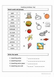 vocabulary matching worksheet food worksheet free esl printable worksheets made by teachers