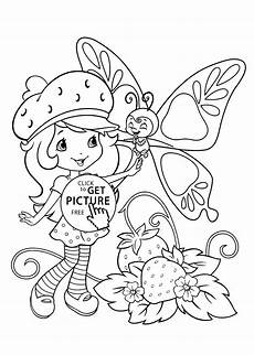 Malvorlagen Free Strawberry Shortcake Coloring Pages With Butterfly
