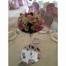 location grand miroir de table rond 35 cm vases