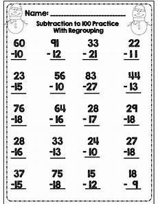 second grade math sheets subtraction no prep second grade common winter math ela packet