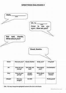 dialogue worksheets 18248 greetings dialogues worksheet free esl printable worksheets made by teachers