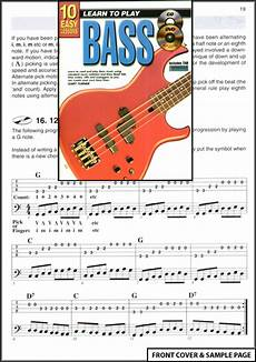 learning how to play the bass guitar learn to play bass guitar 10 easy lessons tab dvd cd ebay