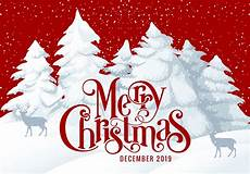 merry christmas 2019 card illustration download free vector art stock graphics images