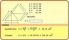 volumen vom dreieck berechnen volumen vom dach berechnen