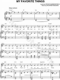 quot my favorite things quot from the sound of music sheet music