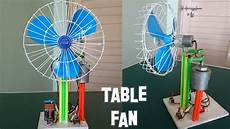 how to make a revolving table fan at home best out of waste youtube