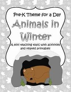 winter themed worksheets pre k 20105 animals in winter activities and centers for preschool and pre k activities other and