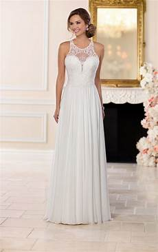beach wedding dresses lace and chiffon beach wedding gown stella york