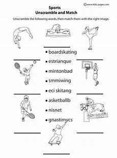 sports worksheets for toddlers 15796 sports unscramble b w worksheets ingl 233 s para ni 241 os ingles deportes