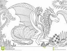 dragons and fairies coloring pages 16591 drag 243 n de hadas atractivo montar a caballo que descansa en bosque floral ilustraci 243 n