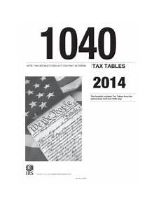 2014 irs tax table 1040 note this booklet does not contain tax forms tax tables 2014 this