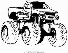 Gratis Malvorlagen Truck Monstertruck Monstertrucks 36 Gratis Malvorlage In