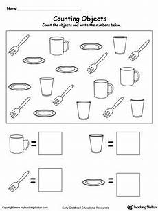 Count And Write The Number Of Objects Kindergarten Math