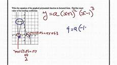 finding the equation of the graph of a polynomial function youtube