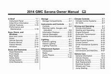 how to download repair manuals 2009 gmc savana 3500 electronic throttle control gmc savana 2014 owner s manual pdf online download