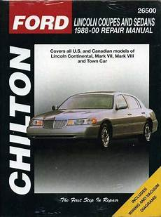 car repair manuals online pdf 1995 lincoln continental interior lighting chilton used books rare books and new books bookfinder com
