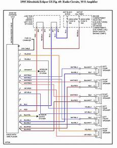i need an accurate stereo radio audio diagram for a mitsubishi eclipse 95 gs
