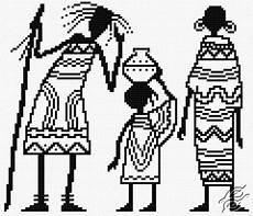 Afrikanische Muster Malvorlagen Pdf Kostenlose Muster Menschen Afrikanische Familie