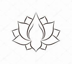 disegni fiore di loto illustrazione fiore di loto isolato disegno dell icona