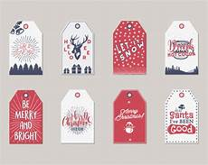 merry christmas and new year gift tags or labels collection premium vector