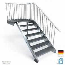 85 Stahltreppen Bausatz Aussentreppe 9 Stufen 70 Cm