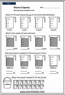 volume measurement worksheets free 1630 measuring capacity using different units mathematics skills interactive activity