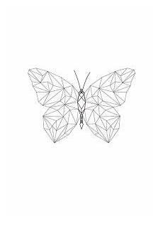 sch 246 nes poster mit schmetterling in geometrischen formen