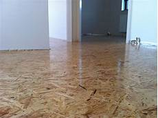 oriented strand board as our wooden floor with 3 layers