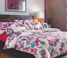 designer pink and blue artistry college dorm bedding twin