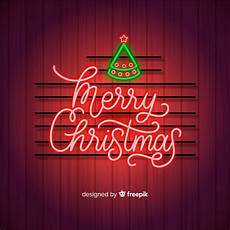 merry christmas concept with neon design vector free download