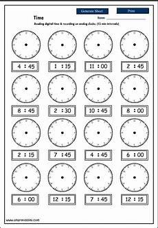 17 best images of digital clock worksheets printable