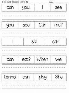 building sight words worksheets 21020 sight words sentence building worksheets more than 100 sentences by tatiana