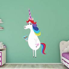 any color large unicorn wall fathead inside out rainbow unicorn wall decal walmart
