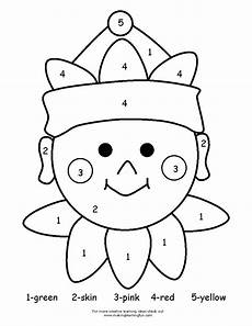 free simple color by number worksheets 16325 color by number color by number coloring sheets kindergarten