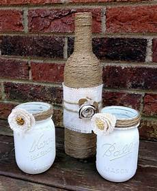 Jute Home Decor Ideas by Shabby Chic Upcycled Jars And Jute Vase Home Decor