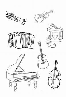 musical instruments coloring pages to and print