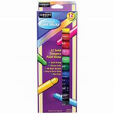 sargent art 174 tempera paint stick assorted colors of 12 walmart com